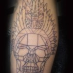 Outline Native American Tattoo